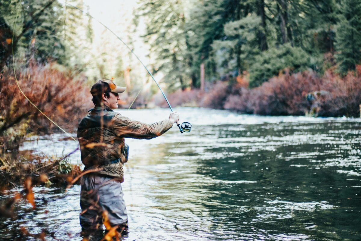 Flyfishing a stream
