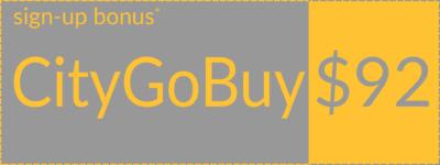 CityGoBuy welcome bonus coupon, left orientation