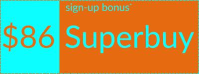Superbuy welcome bonus coupon, alternative version, right orientation