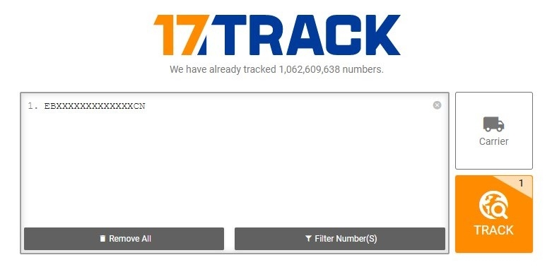 17track parcel tracking