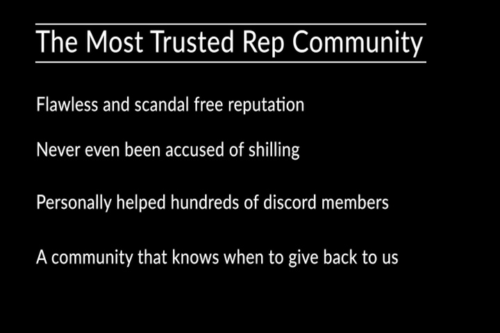 the most trusted rep community