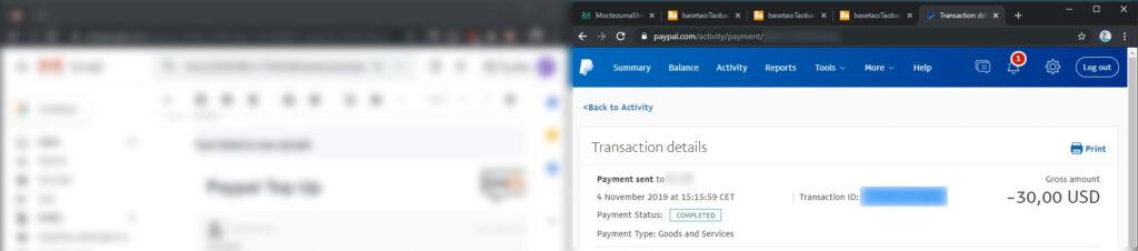 Basetao Paypal Transaction ID