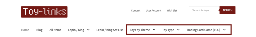 find taobao toys through the menu